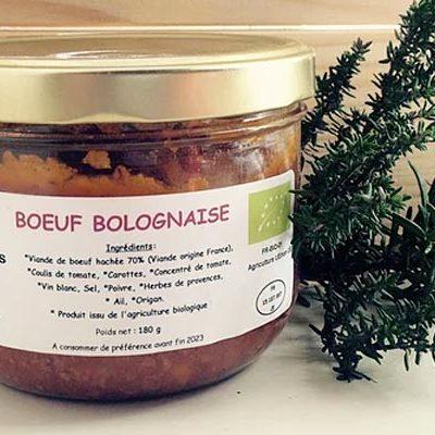 sauce bolognaise biologique